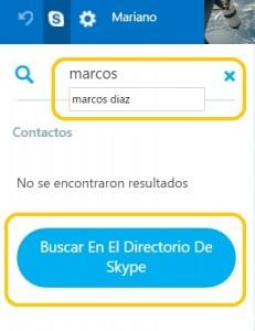 Añadir contactos en Skype para Outlook.com