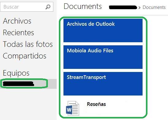 Acceder a los archivos del equipo a través de SkyDrive