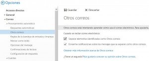 Activar Otros correos en Outlook
