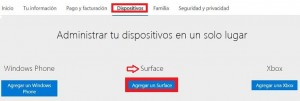 Agregar tablets a Outlook.com
