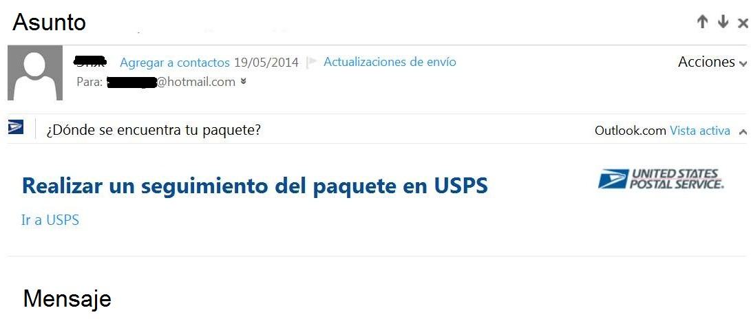 Anuncios publicitarios en los correos de Outlook