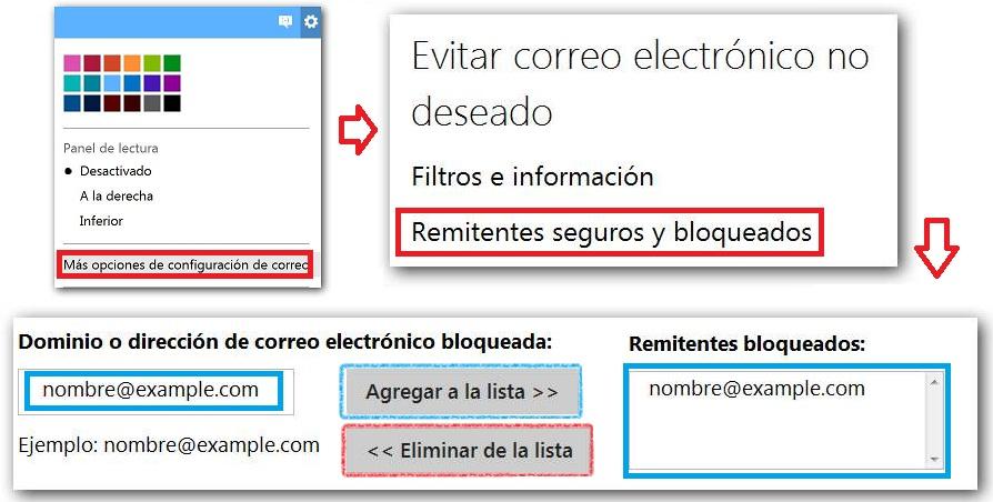 Bloquear contactos de Outlook