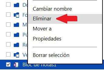 Borrar archivos almacenados en SkyDrive
