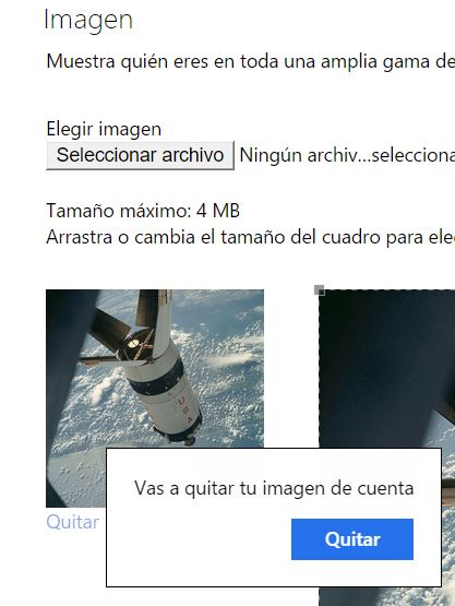 Borrar la foto de perfil en Outlook.com