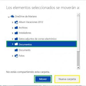 Cómo mover carpetas en OneDrive