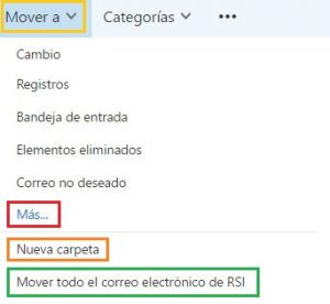 Cómo mover mensajes en Outlook.com