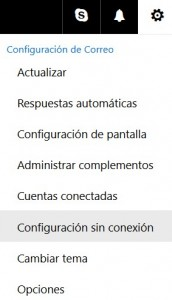 Cómo trabajar sin conexión en Outlook.com