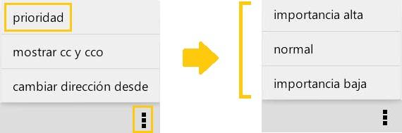 Cambiar la importancia de los mensajes en Outlook para Android