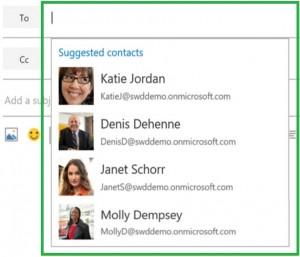 Cambios en el listado de contactos de Outlook.com