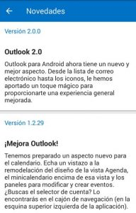 Cambios recientes en Outlook para Android