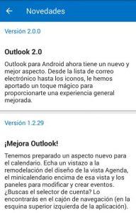 Cambios recientes en Outlook para Android