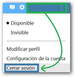 Cerrar sesión en Outlook