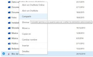 Compartir archivos en OneDrive