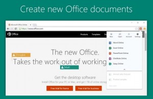 Complemento para Chrome de Office Online