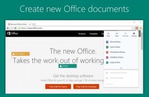 Complemento para Chrome de Office Online