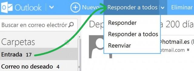 Configuración de respuesta