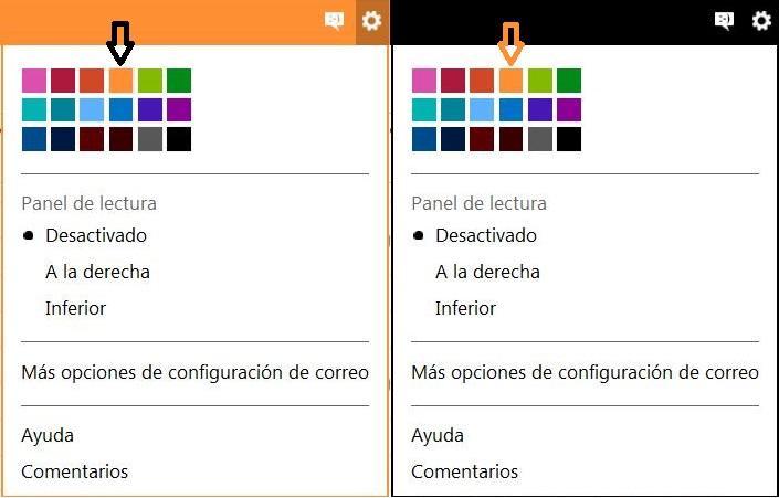 Configurar el color de Outlook.com