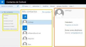 Contactos de Outlook.com se actualiza