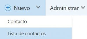Crear listas de contactos