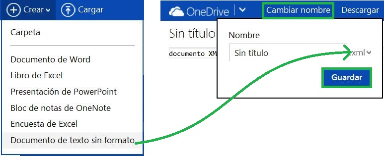 Crear un documento XML en SkyDrive