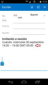 Crear una invitación en Outlook para Android