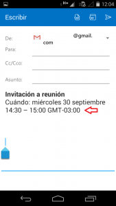 Crear una invitación en Outlook para Android