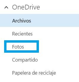 Descargar álbumes en OneDrive