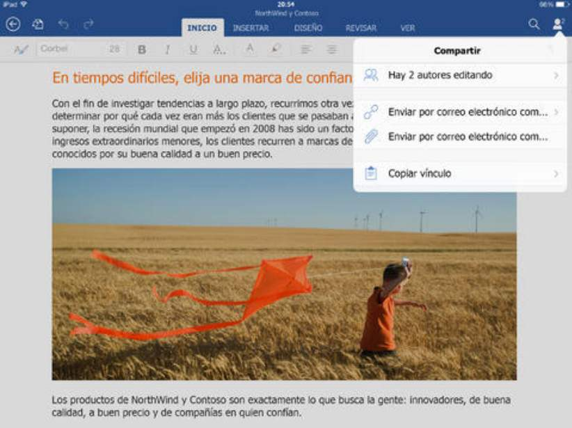 Descargar Word para iPad