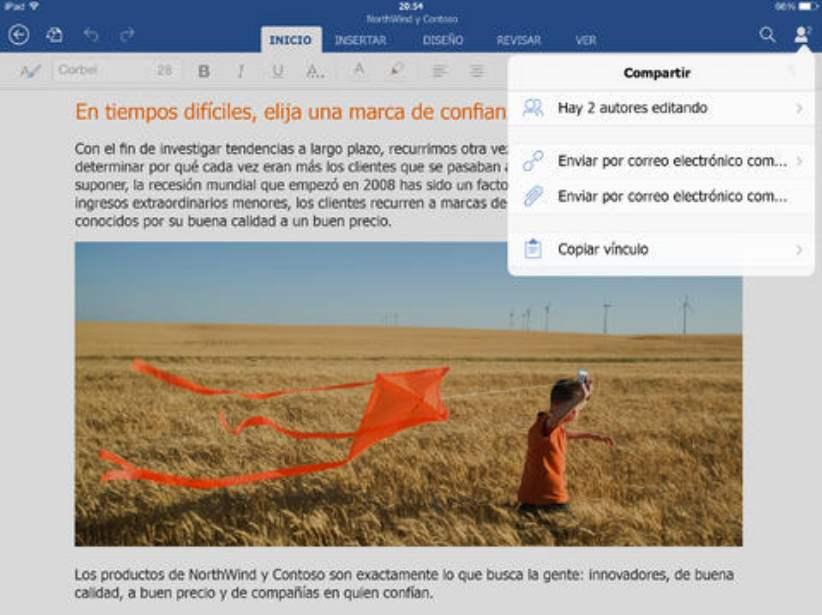 Descargar Word para iPad