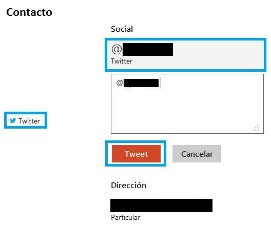 Enviar un tweet desde Outlook.com