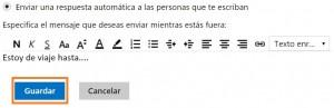 Establecer las respuestas automáticas para Outlook.com