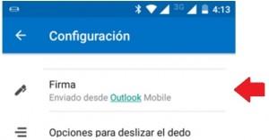 Firmas individuales en las cuentas de Outlook para Android