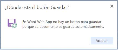 Guardar un documento en Word para SkyDrive