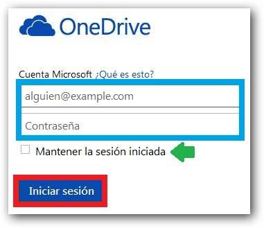 Ingresar a OneDrive