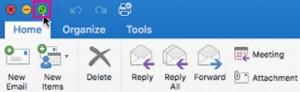 La pantalla completa llega a Outlook para Mac