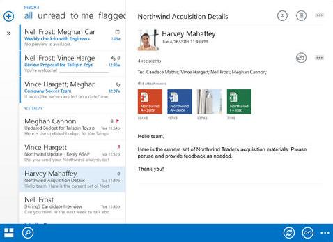 Leer correos de Outlook.com en iPad
