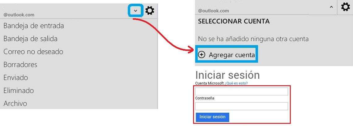 Múltiples cuentas en Outlook para Android