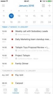 Mejoras en la visualización del calendario de Outlook para iOS y Android