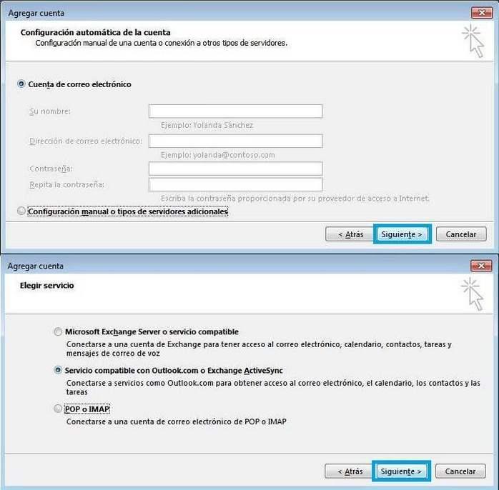 Microsoft outlook 2013 configuracion