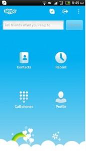 Modificaciones en Skype para Android