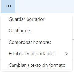 Modificar el formulario de redacción en Outlook.com