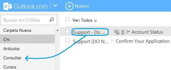 Mover correos con el mouse