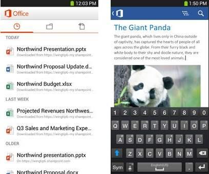 Nuevo Office móvil para Android