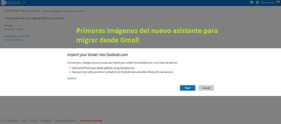 Nuevo asistente para migrar desde Gmail