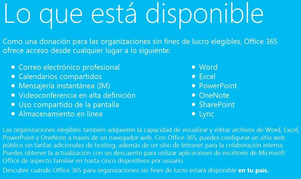 Obtener Office 365 gratis