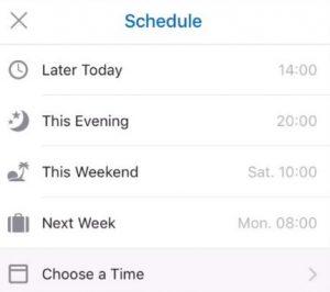 Opciones para programar correos en Outlook para móviles