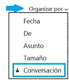 Organizar la lista de correos electrónicos en Outlook.com