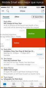 Outlook en iPhone