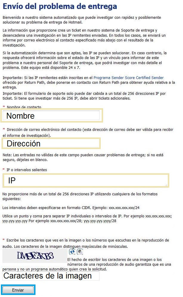Outlook.com ha bloqueado mi IP