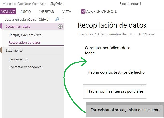 Para qué sirve Microsoft OneNote Web App